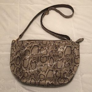 Snakeskin Crossbody Purse